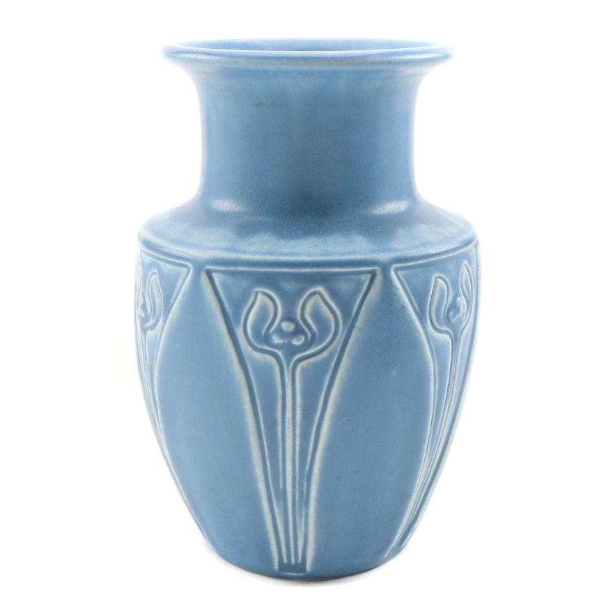 Rookwood Pottery Arts and Crafts Blue Matte Glaze Vase, 1929