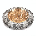 Tiffany & Co. Sterling Silver Centerpiece with Floral Foliate Repoussé, 1920s
