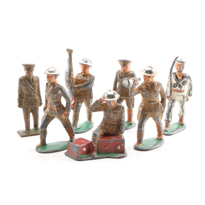 United States Army and Navy Hand-Painted Lead Soldiers, Early-Mid 20th Century
