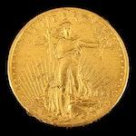 1908-D Saint-Gaudens No Motto Type $20 Gold Double Eagle Coin