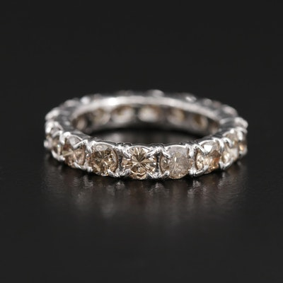 14K White Gold 2.52 CTW Diamond Eternity Ring