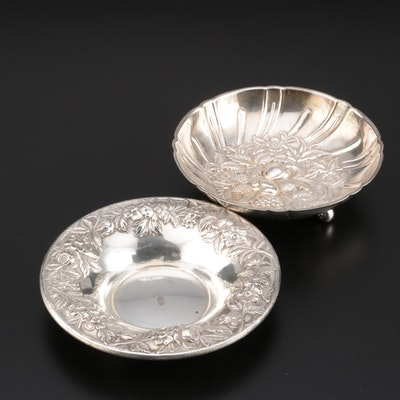 S. Kirk & Son Sterling Silver Repoussé Fruit and Bon Bon Bowls