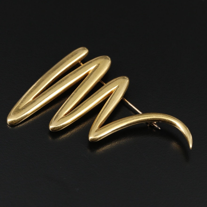 Paloma Picasso for Tiffany & Co. 18K Brooch