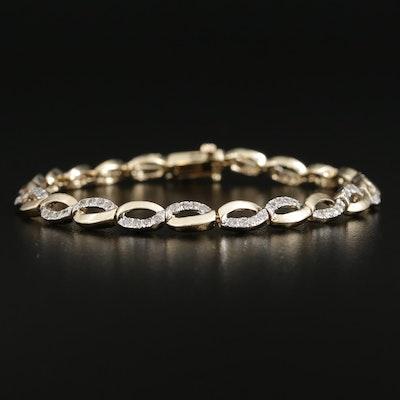 14K Gold 1.26 CTW Diamond Bracelet
