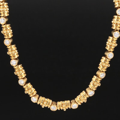 18K Yellow Gold 3.91 CTW Diamond Necklace