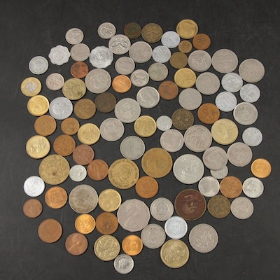 Ninety-Three Foreign Coins