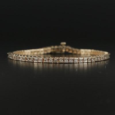 14K Yellow Gold 2.02 CTW Diamond Channel Bracelet