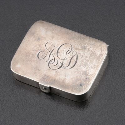 Herbst & Wassall Sterling Silver Pill Box, Early to Mid 20th Century