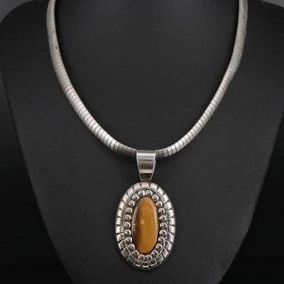 Southwestern Style Carolyn Pollack Sterling Tiger's Eye Necklace