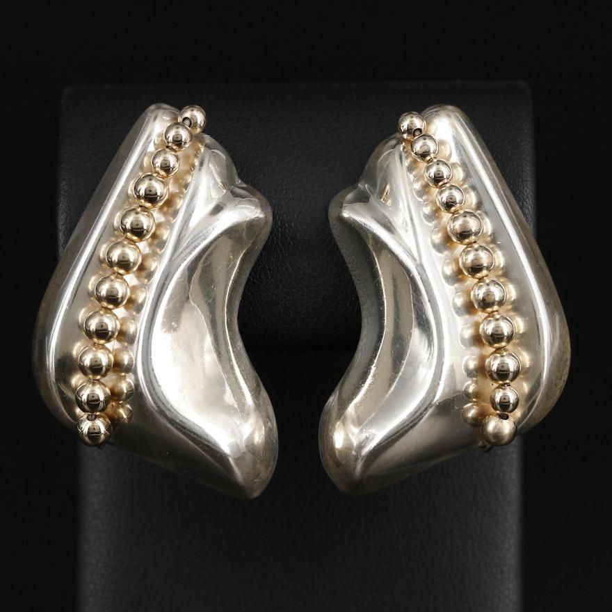 Taxco Sterling Silver Clip-On Earrings