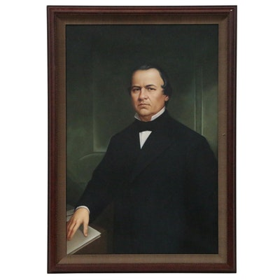 Portrait Oil Painting of President Andrew Johnson