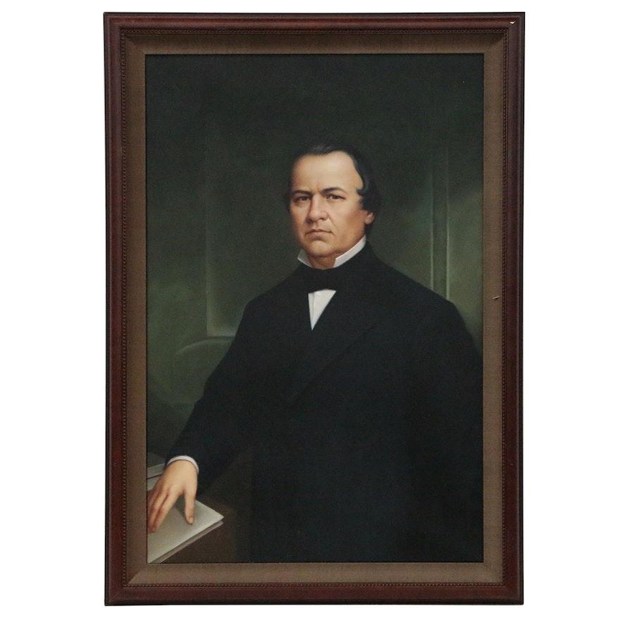 Portrait Oil Painting of President Andrew Johnson