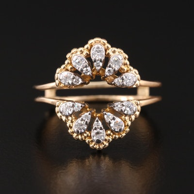 18K Yellow Gold Diamond Ring Jacket
