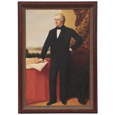 Portrait Oil Painting of President Millard Fillmore