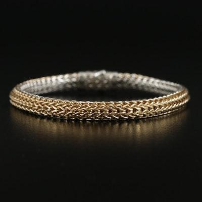 John Hardy Sterling and 18K Classic Chain Reversible Bracelet