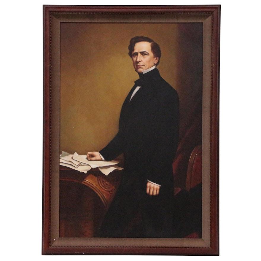 Portrait Oil Painting of President Franklin Pierce