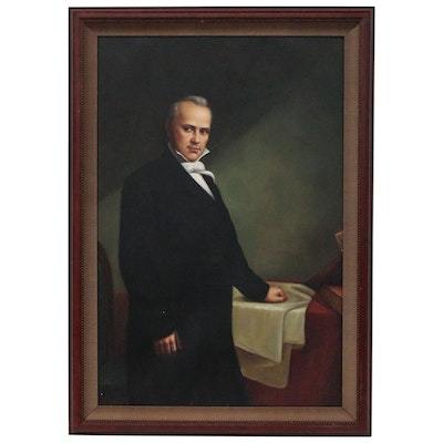 Portrait Oil Painting of President James Buchanan