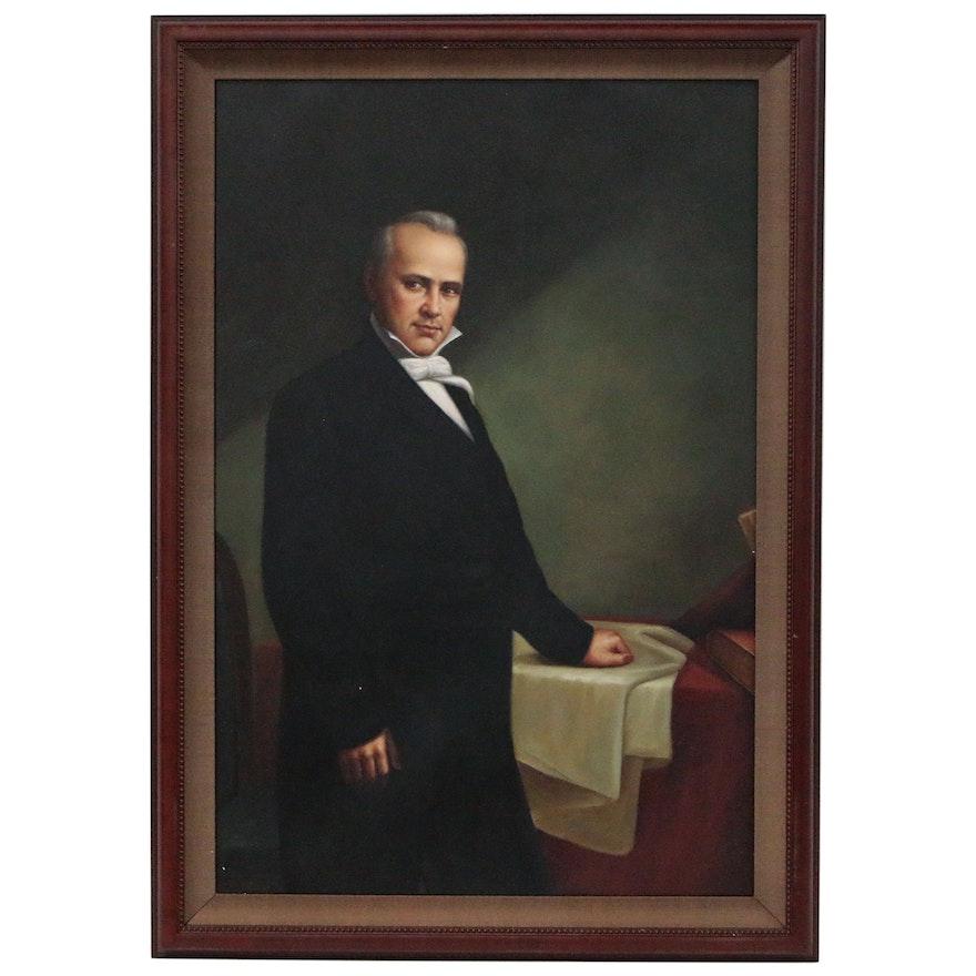 Portrait Oil Painting of President James Buchanan