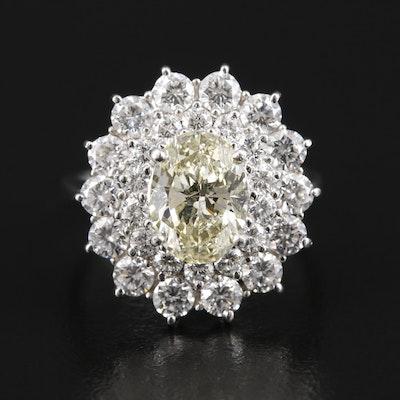 Platinum 2.93 CTW Diamond Ring