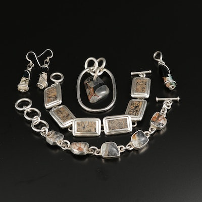 Collection of Sterling Silver Jasper Jewelry