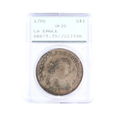 PCGS Graded VF35 1798 Draped Bust Silver Dollar