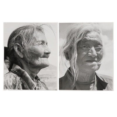 Native American Portrait Silver Gelatin Photographs