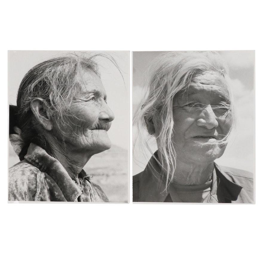 Native American Portrait Silver Gelatin Photographs