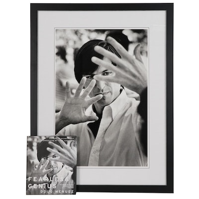 "Douglas Menuez Digital Print Photograph ""Steve Jobs"" and Book ""Fearless Genius"""