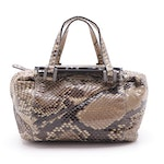 Fendi Python Skin Leather Handbag