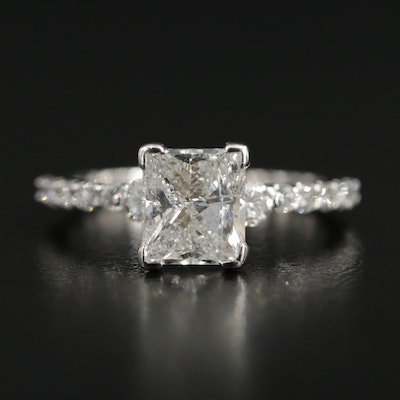 14K White Gold 2.51 CTW Diamond Ring
