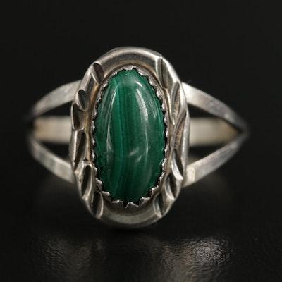 Southwestern Sterling Silver Malachite Ring