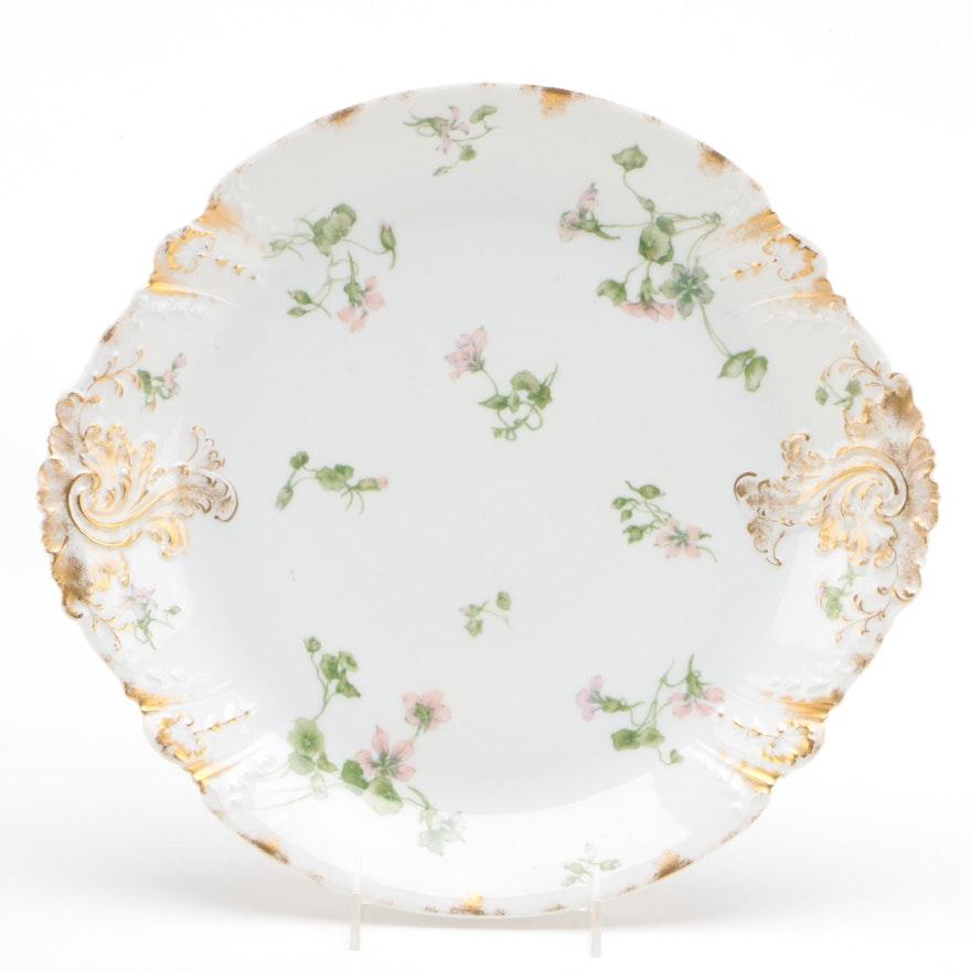 Charles Field Haviland Porcelain Platter with Floral Motif, 1891-1899