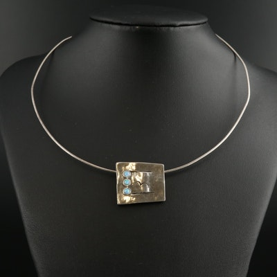 Shablool Didae Sterling Silver Synthetic Opal Necklace
