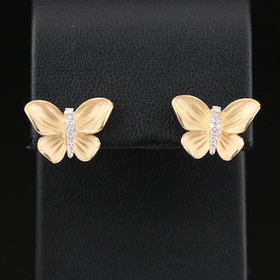 Simon G 18K Yellow Gold 0.06 CTW Diamond Butterfly Earrings
