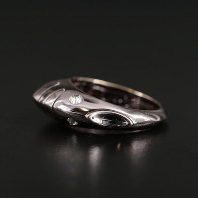 Roberta Porrati 18K White Gold Diamond Fish Ring