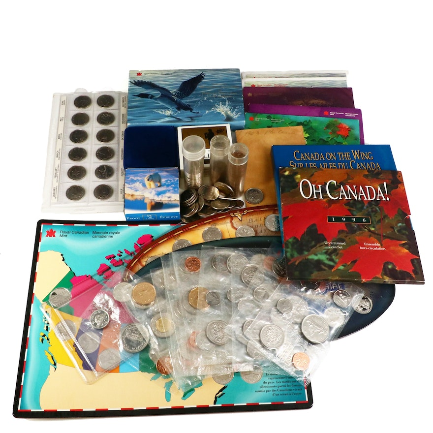 Large Assortment of Modern Canadian Coinage