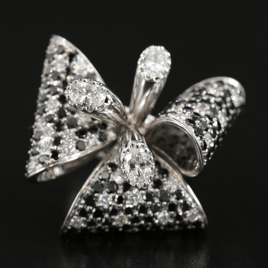 Sartoro 18K Gold 6.14 CTW Diamond Bow Ring