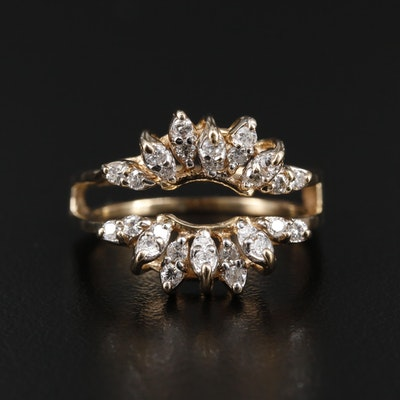 14K Gold Diamond Ring Jacket