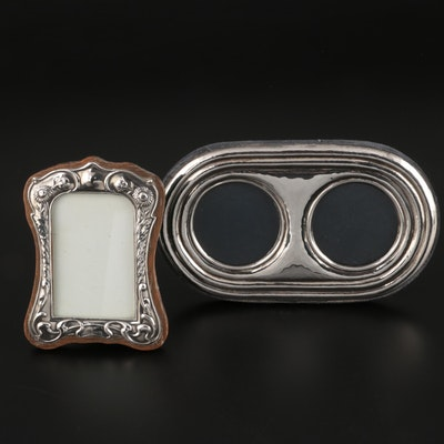 English Art Nouveau and Italian Contemporary Sterling Silver Frames