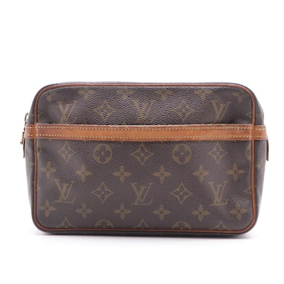 Louis Vuitton Compiegne 23 Toiletries Bag in Monogram Canvas and Leather