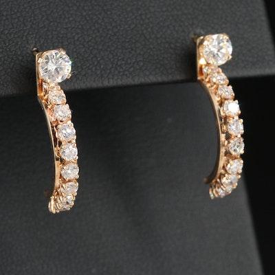 14K 1.90 CTW Diamond Stud Earrings and Jackets