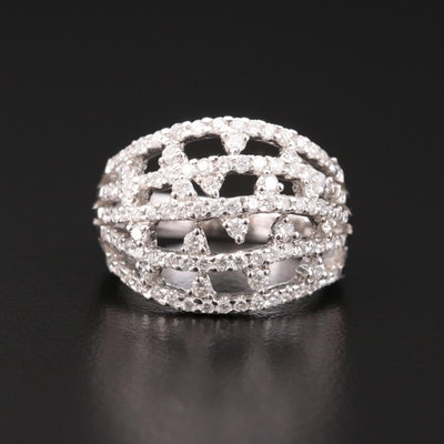 18K Gold 1.39 CTW Diamond Openwork Ring