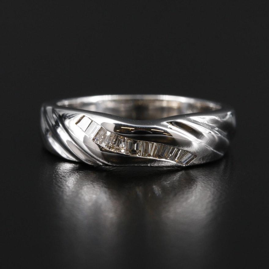 14K Gold Diamond Channel Ring