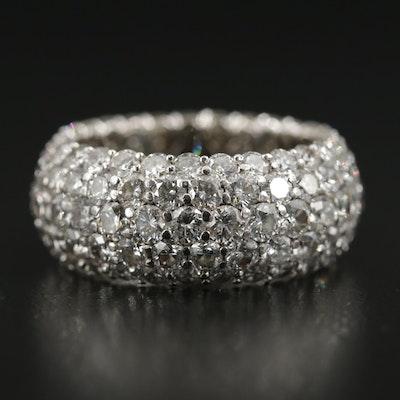 Platinum 7.97 CTW Pavé Diamond Ring
