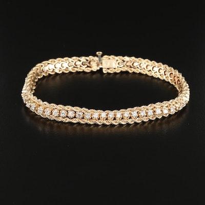 14K Gold 1.54 CTW Diamond Bracelet