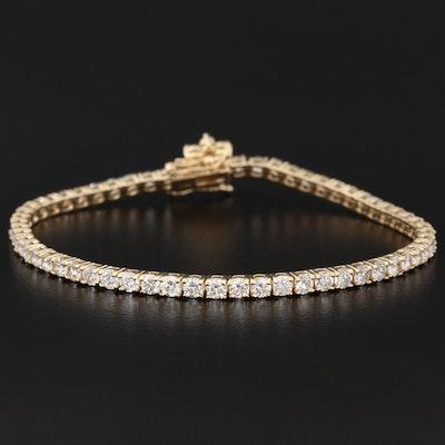 14K Gold 5.03 CTW Diamond Tennis Bracelet