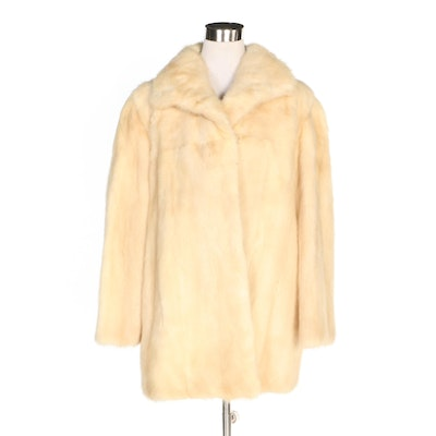 Blonde Mink Fur Coat, Vintage