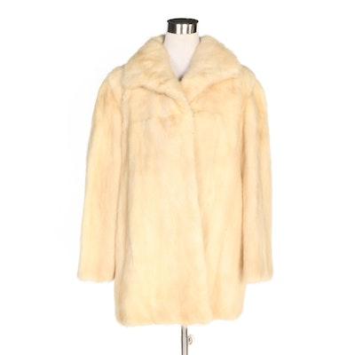 Blonde Mink Fur Coat, Vintage