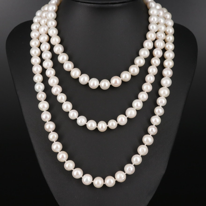 Endless Strand Cultured Pearl Necklace
