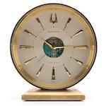 Bulova Accutron Spaceview Brass Desk Clock